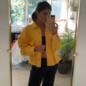 Yellow lightweight denim jacket